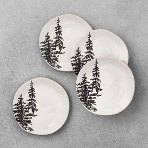 Hearth & Hand Stoneware Appetizer Pine Tree plates